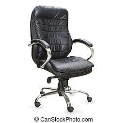sedia, bianco, sfondo nero, ufficio