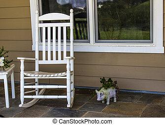 Sedia dondolo porch testa isola nord trascurare for Piani ponte veranda