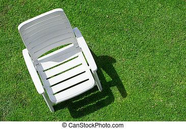sedia giardino, su, legge