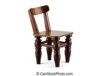 sedia legno, bianco, fondo