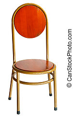 sedia legno, bianco, vecchio, isolato