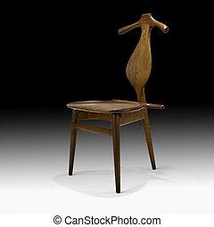 sedia, moderno, disegno, mezzo, secolo