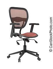 sedia, moderno, isolato, ufficio