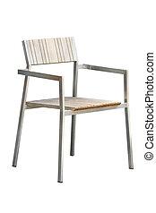 sedia, moderno, isolato, white.