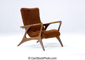 sedia, moderno, mezzo, secolo