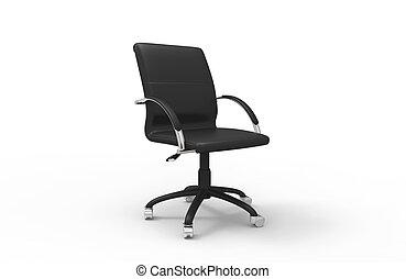 sedia, nero, ufficio