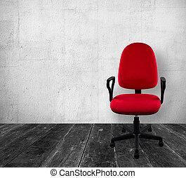 sedia ufficio, vendemmia, interno