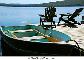 sedie, bacino barca