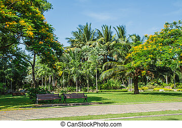 sedie, giardino