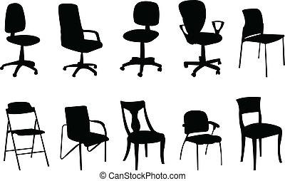 sedie, silhouette