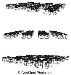 sedie, tavola cena