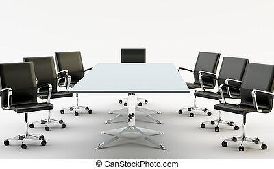 sedie, tavola, ufficio