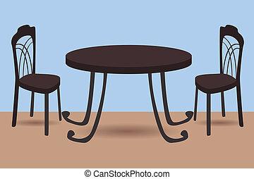 sedie, tavola