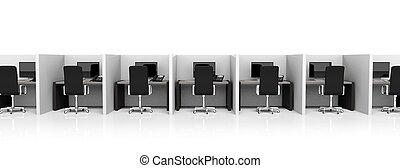 sedie ufficio, spogliatoi, apparecchiatura, sfondo nero, bianco
