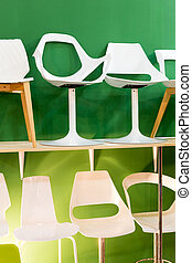 sedie, verde, backround, moderno, sbarra