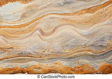 sedimentario, arenisca, plano de fondo, roca