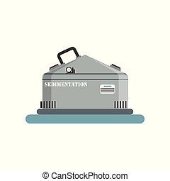 Sedimentation, brewing production process vector Illustration on a white background