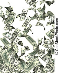 sedlar, flygning, dollar