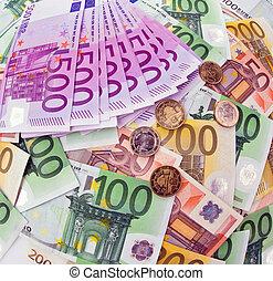 sedlar, många, euro