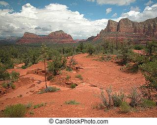 Sedona Arizona Landscape - Western terrain near Sedona,...