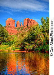 Sedona Arizona - Red Rock country and Oak Creek surrounding...