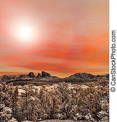 Sedona Arizona Sunrise - Sunrise at Red Rock country...