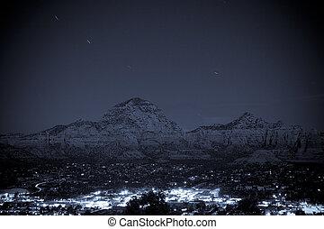 Sedona by night