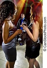 Seducing Men at a Club - women seducing a man at a bar or...