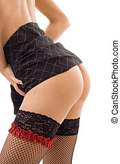 seduction - seductive up-skirt picture of pretty girl in...