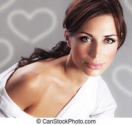 Seductive female - Photo of seductive woman with nude...