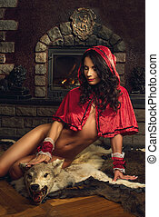 Seductive Red Riding Hood - Sexy seductive Red Riding Hood