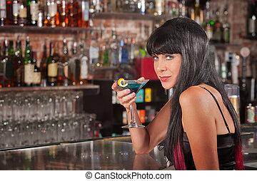 Seductive Woman Drinking