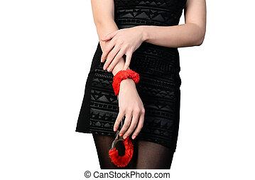 seductive woman in tights