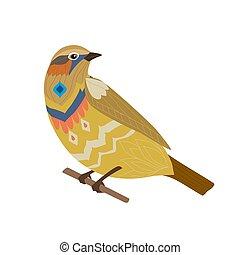 seduta, tuo, disegno, divertire, ramo, uccello