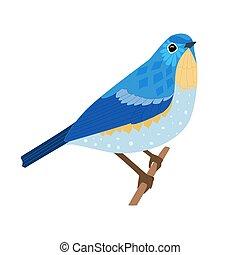 seduta, tuo, disegno, ramo, aggraziato, uccello