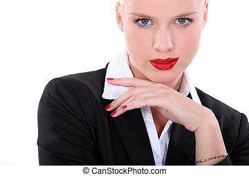 sedutor, secretária