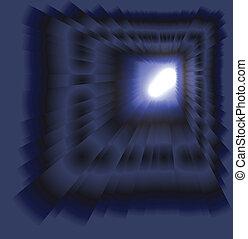 See burst light on dark background