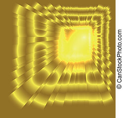 See burst light on golden