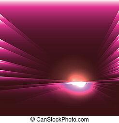 See burst light on purple