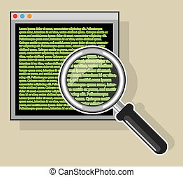 See code through magnifying glass