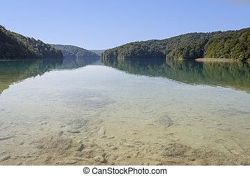 see, in, plitvice, kroatien
