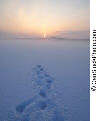 see, landschaftsbild, winter