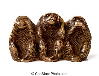 See no evil - Brass monkeys showing see, hear, speak no evil