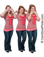 See no evil hear no evil speak no evil no evil