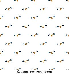 See saw pattern seamless - See saw pattern in cartoon style...