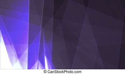 """Hi-tech 3d rendering of transparent business triangles with flat surfaces turning around in the grey and blue cyber background. It looks innovative, optimistic and advanced."""