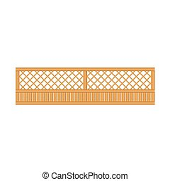 See-Through Wooden Fence Design Element Template. Edging...