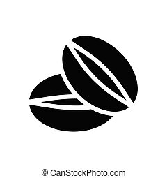 seed  glyph flat icon