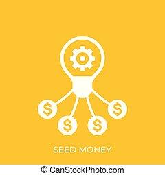 seed money, funding vector icon