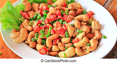 seed of cashew nut salad Hors d'oeuvres